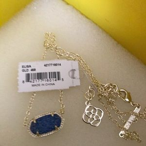 Beautiful Kendra Scott Blue Druzy